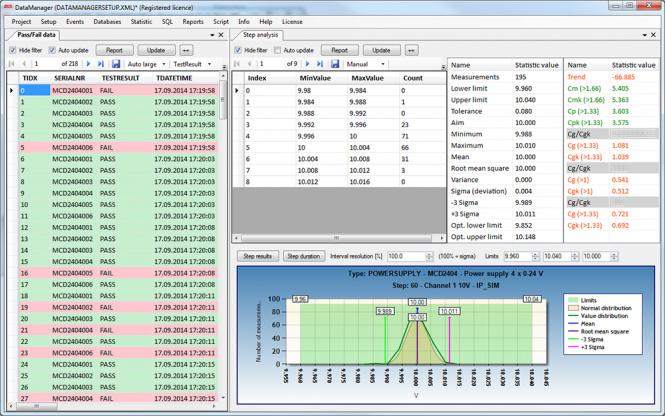 MCD Data Manager.NET software license for statistictool