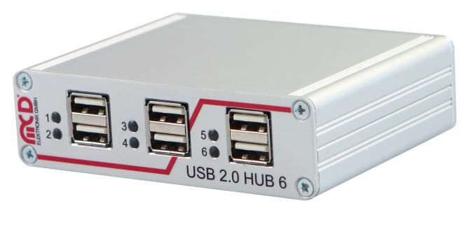 USB hub 6-port, switchable via USB