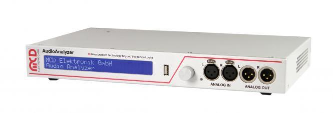 Audio Analyzer 1U unit analog and digital with integrated PC